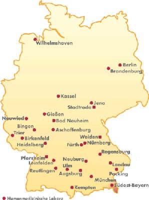 Begutachtungsstellen-Deutschlandkarte